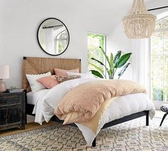 Need bedroom inspiration? Shop Pottery Barn for stylish bedroom furniture and decor. Create an warm and cozy bedroom oasis with quality bedding in classic styles and colors. Stylish Bedroom, Cozy Bedroom, White Bedroom, Bedroom Inspo, Bedroom Sets, Bedroom Apartment, Modern Bedroom, Bedroom Decor, Contemporary Bedroom