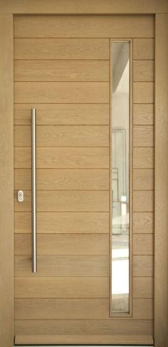 Puerta de entrada de aluminio con panel decorativo casa - Puertas de madera para entrada principal ...
