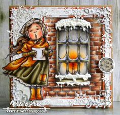 Hello Everyone!    I made today's card, using Maisie Caroling  and Winter Window     from Mo's Digital Pencil.           More details yo...