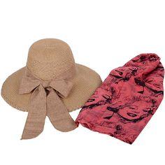 Hasır şapka ve Marilyn Monroe pareyo