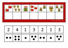 Counting game. Use dots or numbers depending on what your student can handle. By Autismespektrum.