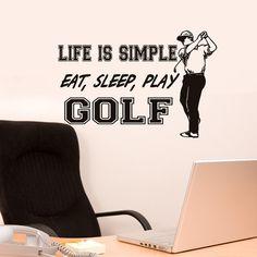 Golf+decor+Life+is+Simple+Eat+Sleep+Play+golf+by+HouseHoldWords,+$39.00