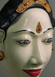 Raji Putri Mask Topeng Dance Drama, Bali, Indonesia