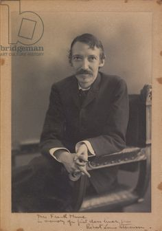 Robert Louis Stevenson (b/w photo)