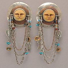 Tabra Vintage Peruvian Sun God Post Earrings