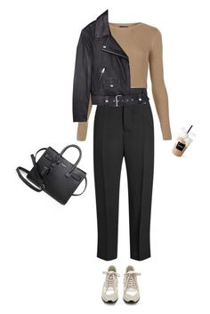 """""""Future Looks Good"""" by djulia-tarasova ❤ liked on Polyvore featuring Yves Saint Laurent, Topshop, Rick Owens, Blanca, Acne Studios and Coffee Shop"""
