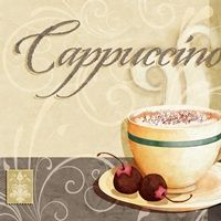 Joy Hall Premium Thick-Wrap Canvas Wall Art Print entitled Coffee - Cappuccino, None Coffee Latte Art, Coffee Cafe, Coffee Drinks, Coffee Girl, Coffee Shop, Tee Kunst, Café Vintage, Café Chocolate, Coffee Facts