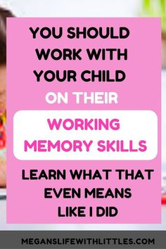 How to work with your child on their working memory skills. Working memory activities for kids, working memory. Indoor Activities For Toddlers, Infant Activities, Learning Activities, Kids Learning, Therapy Activities, Working Memory, Thing 1, Kids Education, Parenting Hacks