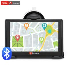 Junsun 5 inch Car GPS Navigation Capacitive screen MP4/MP3 Bluetooth AVIN FM 8GB Vehicle Truck GPS navigator With free map