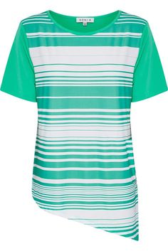 NONI B Longline Short Sleeve Top $49.95 AUD  Short sleeve front print top with angled bottom Polyester /Elastane  Item Code: 047624