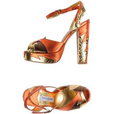 Terry De Havilland Sandals ($295) ❤ liked on Polyvore featuring shoes, sandals, rust, ankle wrap sandals, ankle tie sandals, leather sandals, snake print shoes and round cap