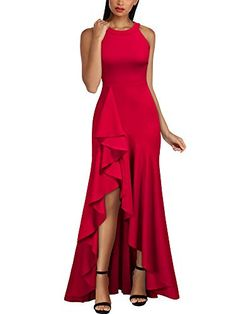 online shopping for Miusol Women's Retro High Neck Split Formal Evening Party Maxi Dress from top store. See new offer for Miusol Women's Retro High Neck Split Formal Evening Party Maxi Dress Dress Outfits, Casual Dresses, Fashion Dresses, Formal Dresses, Godmother Dress, Evening Dresses, Prom Dresses, African Print Fashion, Classy Dress