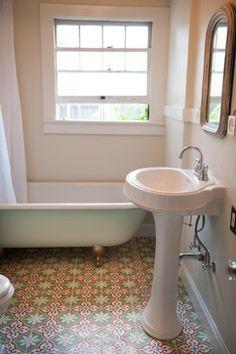 Sonoma County Vintage Inspired Bathroom Traditional Bathroom San Francisco Granada Tile