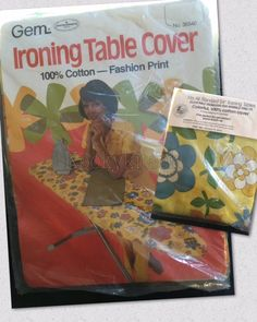 Gem Vintage Ironing Table Cover Fashion Print by kookykitsch