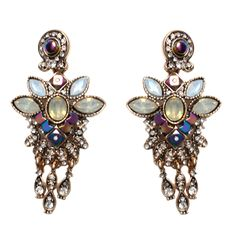 Long Tassel Hanging Earing Summer 2016 Fashion Women Flower Crystal Jewelry Party Dangle Bridal Indian Statement Drop Earring #Affiliate