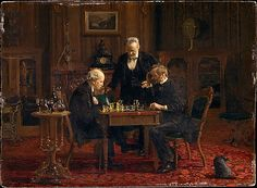 The Chess Players Thomas Eakins  (American, Philadelphia, Pennsylvania 1844–1916 Philadelphia, Pennsylvania) 1876