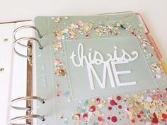 """""""This is me"""" title page Project By stephaniebryan http://www.studiocalico.com/galleries/85531-this-is-me-title-page"""