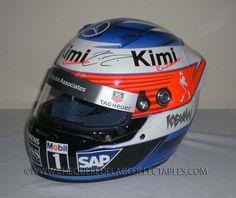 Kimi Raikkonen signed official 2005 Mclaren replica helmet