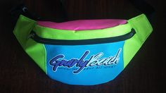 Gnarly Beach Shred All Day Rage All Night 80s Retro Beach Wear, Fanny Packs, Neon Hats, Silicone Wristbands www.meltinghearts.com