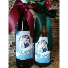 Custom wine bottle labels to be used as Christmas Host/Hostess Gifts Personalized Wine Labels, Custom Wine Labels, Wine Bottle Labels, Wine Christmas Gifts, Custom Printed Labels, Holiday Gift Baskets, Host Gifts, Wine Gifts, Unique