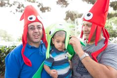 The gents can join in on the fun too with these squid hats! #BirthdayExpress #UnderTheSEa