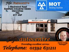 3 Blackwood Road Eastfield Industrial Estate Glenrothes Fife KY7 4NP Telephone 01592 631211