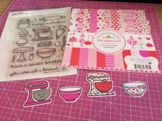 Lawn Fawn Paper Piecing Mixer Stamp Tutorial