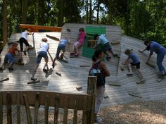 Tilted climbing wall--kukuk creative natural playgrounds tilted surfaces