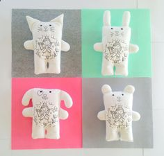Color Me Toy Gift for Toddler Custom Plushie Personalized