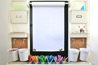 "Idea for ""visual"" board/creative space in homeschool classroom"