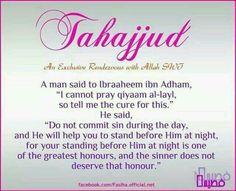 I love tahajjud