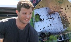 Jamie Dornan shoots dramatic helicopter crash for Fifty Shades Darker