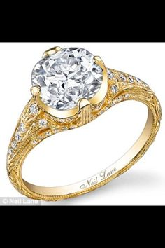 Neil Lane engagement ring...love it but not sure about the yellow gold
