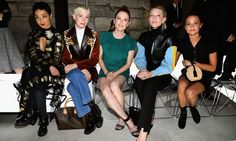Ruth Negga, Michelle Williams, Julianne Moore, Cate Blanchett and Alicia Vikander showed off their individual style in the front row of Louis Vuitton.