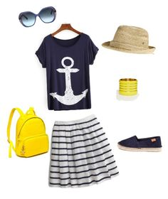 """""""Sunday Boat Ride"""" by andrea-whitaker-looney on Polyvore featuring J.Crew, ASOS, Oscar de la Renta, Flora Bella and Tommy Hilfiger"""