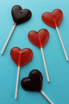 Valentine's Day Heart Sucker Recipe.