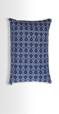 The Safi Cushion in Ink Blue. Inspired by Arab Tiles in an intricate textile design. £20 | MADE.COM