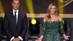 Fernanda Lima causa furor en la gala del Balón de Oro 2014
