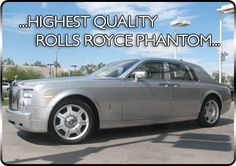 Phantom Car Hire, Hire a Rolls Royce Phantom and travel in Luxury to your school prom, birthday or wedding. Bring along your friends in the Phantom for a night they wont forget. Rolls Royce phantom hire has all the up to date exotic fleet. Phantom Car, Wedding Car Hire, Rolls Royce Phantom, Silver, Money