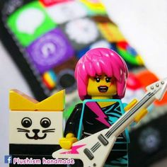 This is a lovely iPhone plush toy for a sweet little girl. It is her first iPhone. It is a perfect gift. (Lego not included) Message me your enquiry. Handmade with lots of love. ♥