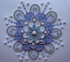 Beautiful example of 2D quilling! by catrulz