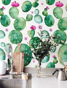 Flowers Wallpaper, Bold Wallpaper, Print Wallpaper, Nature Wallpaper, Peel And Stick Wallpaper, Wallpaper Ideas, Watercolor Wallpaper, Washable Wallpaper, Self Adhesive Wallpaper