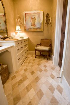 bathroom floor tile layouy