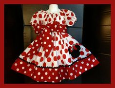 Custom Made Minnie Mouse DRESS Embroidered Name by livewholly4him, $55.00