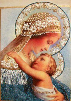 """""""I AM all Love for you Mama.""""Mother Mary with Child Jesus"""