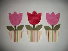 Resultado de imagem para risco de tulipas para patchcolagem