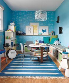 Organized and clean playroom