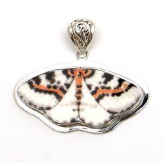 Broken China Jewelry Butterfly Sterling Pendant