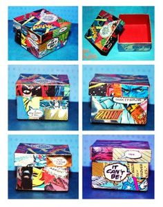 comic book box cool craft to store things in for kids