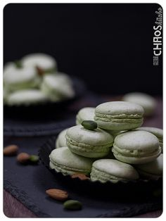 Pistazien Macaron Macarons, Cookies, Desserts, Food, Pistachios, Recipes, Crack Crackers, Tailgate Desserts, Deserts